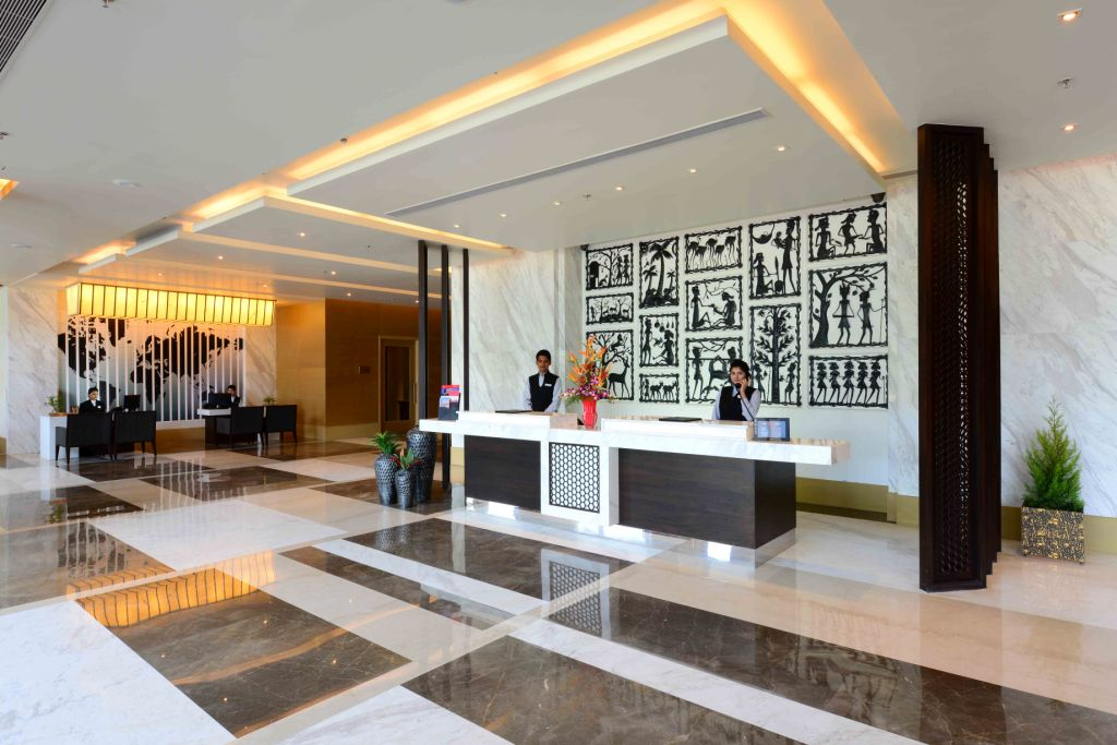 interior design of hotel reception design